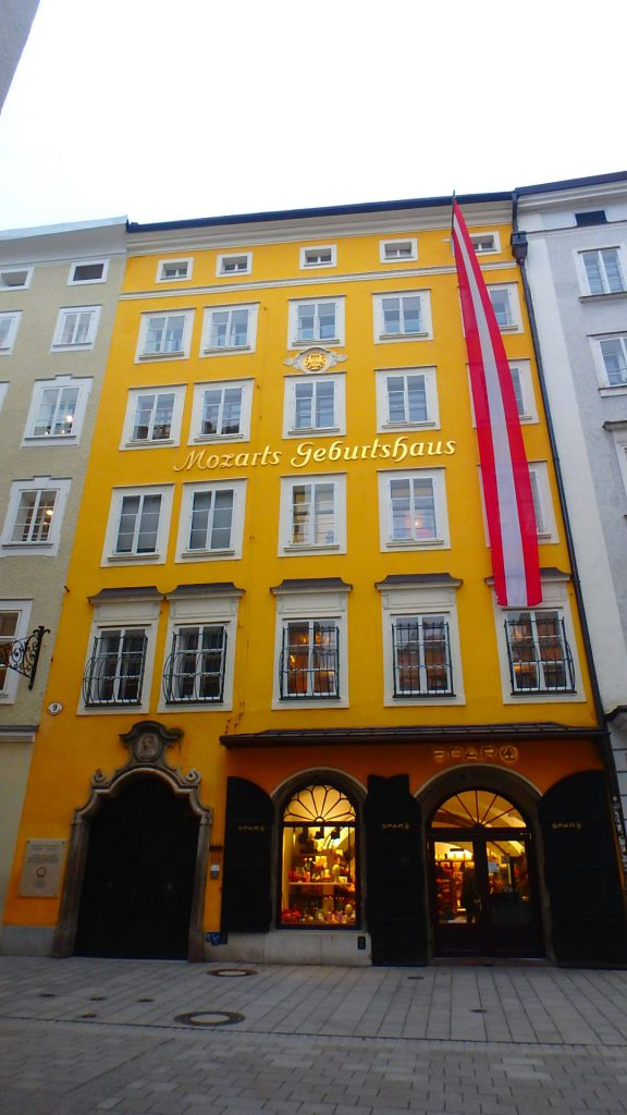 ザルツブルグ観光 モーツァルトが生まれた家