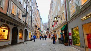 ザルツブルグ観光 ゲトライデストリートでショッピング