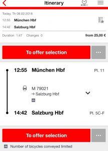 バイエルンチケット DB 電車の時刻の調べ方