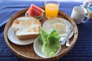 インレー湖の宿泊施設 song of travelの朝食