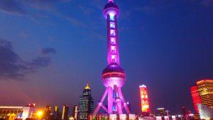 上海テレビ塔の展望台