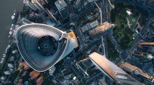 上海タワー 118階展望台からの景色