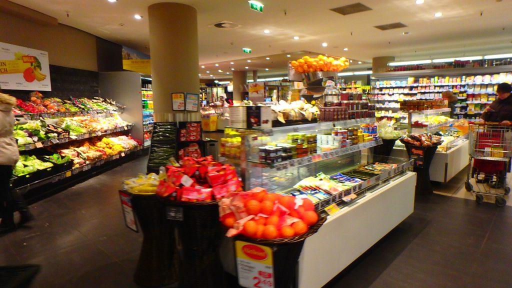 ザルツブルクのスーパー