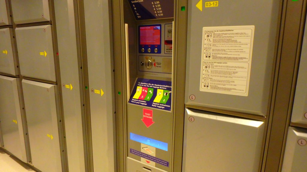 ザルツブルク駅のコインロッカー