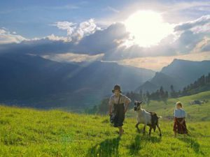 アルプスの少女ハイジの舞台 スイス アルムの山