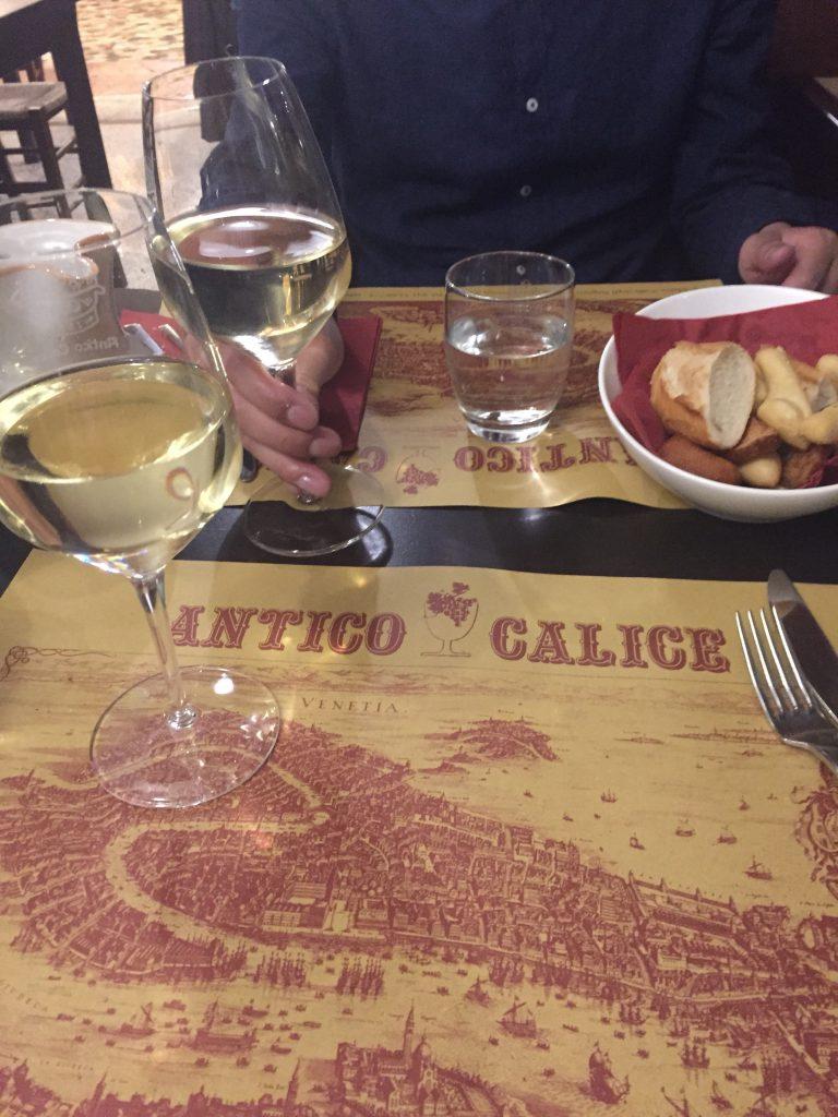 ベネチアの安くて美味しいレストラン Antico Calice