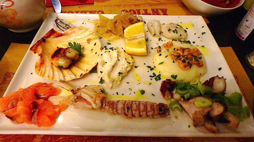ベネチアの美味しいイタリアンのレストラン 前菜