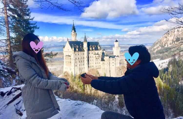 ノイシュヴァンシュタイン城でのプロポーズ