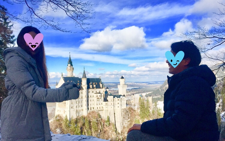 海外でのサプライズ 〜ドイツのお城でプロポーズ