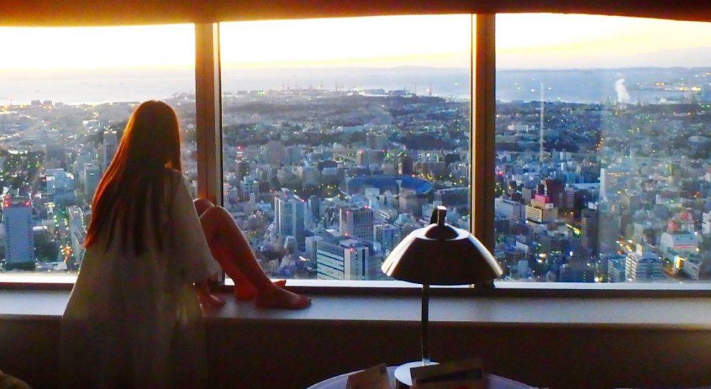 海外ホテルのクラブフロア 高層階の客室