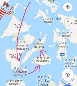 フィリピンでのアイランドホッピングのルート 旅ブログ