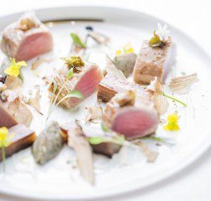 パリのミシュラン三ツ星レストラン ル ムーリスの料理