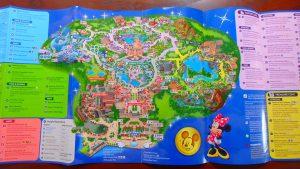 上海ディズニーランドのマップ