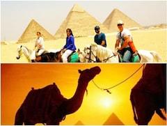 エジプト ピラミッドで乗馬体験