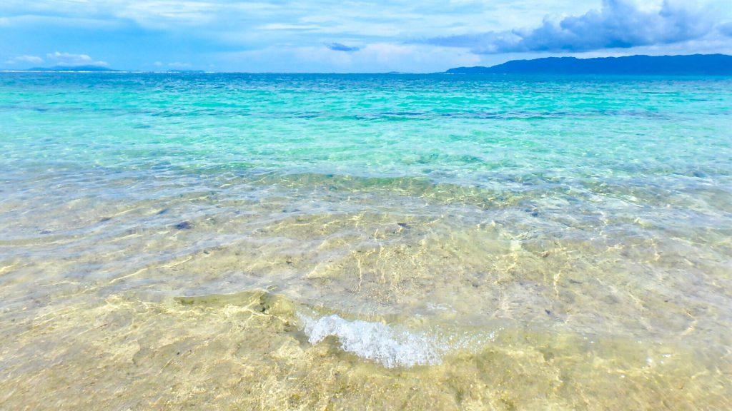 鳩間島のビーチが綺麗