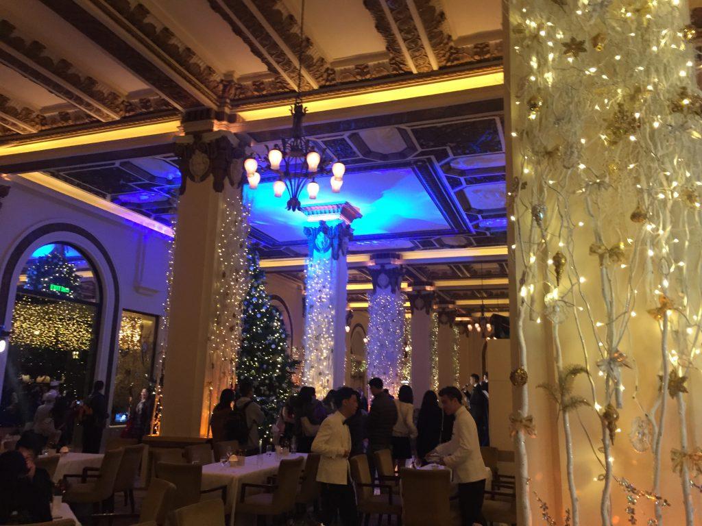 ペニンシュラ香港 クリスマス ガラディナー