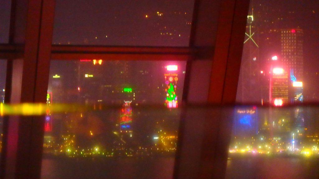 香港 100万ドルの夜景 クリスマスバージョン