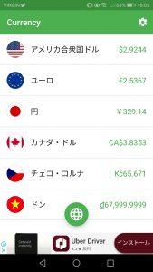 海外旅行 通貨の計算に便利なアプリ Currency