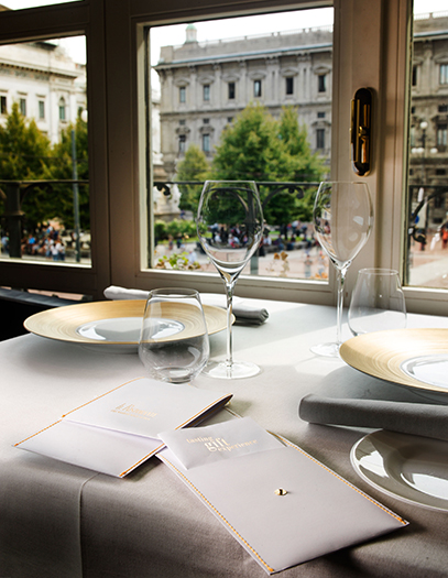 ミラノ スカラ座が見えるレストラン Trussardi alla Scala