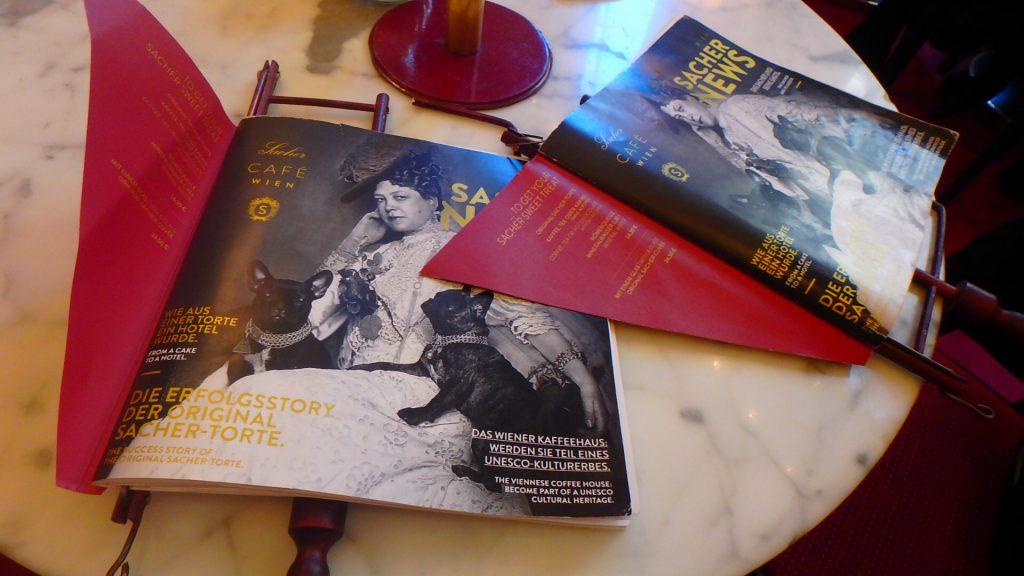 カフェ ザッハー ウィーンのメニュー Sacher