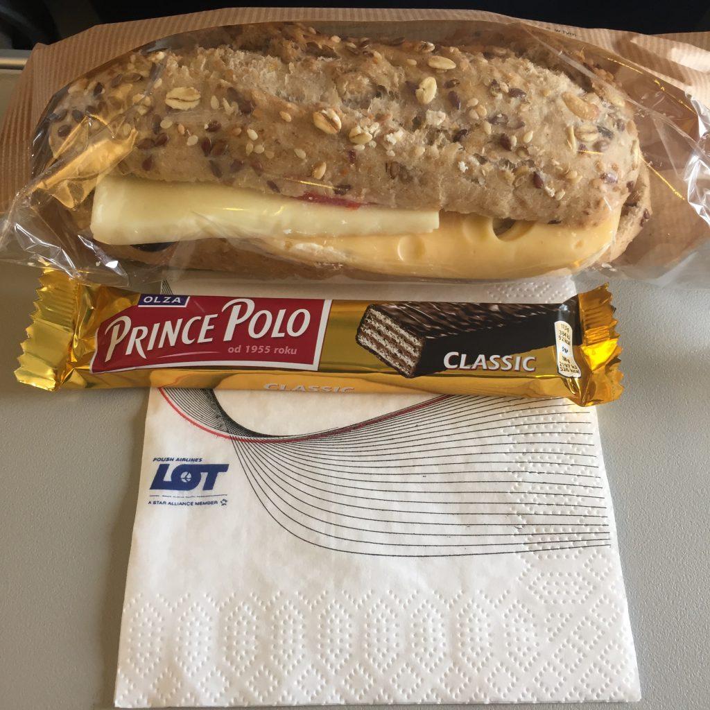 ポーランド航空 機内食