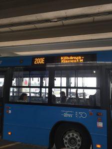 ブダペスト 空港から市内へのアクセス 200E系統バス