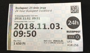 ハンガリー ブダペスト 一日乗車券