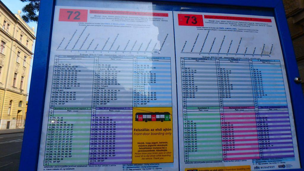 ハンガリー グンデルへの行き方 バスの時刻表