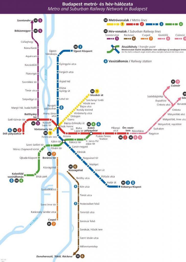ブタペスト メトロ map