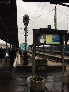 ウィーン行き電車 ホーム