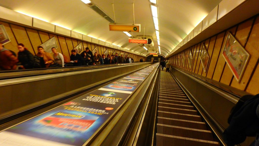 ブダペストの地下鉄 ホーム