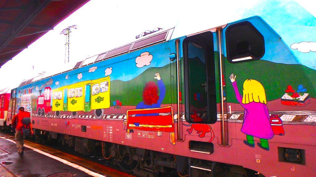 ブダペストからウィーンへ 電車