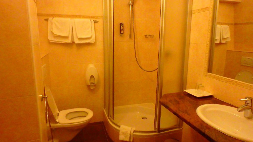 チェスキークルムロフのホテル バスルーム