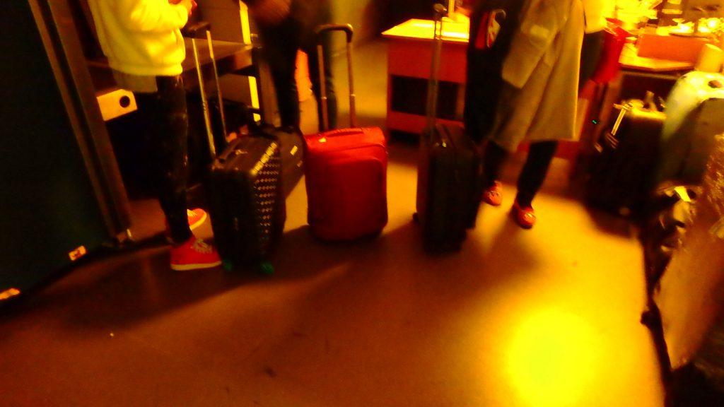 ブダペスト空港の荷物預かり所