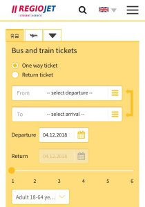 チェスキークルムロフからプラハ バスの予約方法