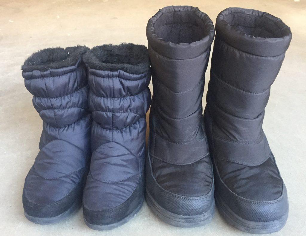 冬の海外旅行の足元 靴 スノーブーツ