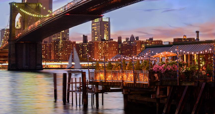 ニューヨーク ブルックリン橋が見える絶景レストラン
