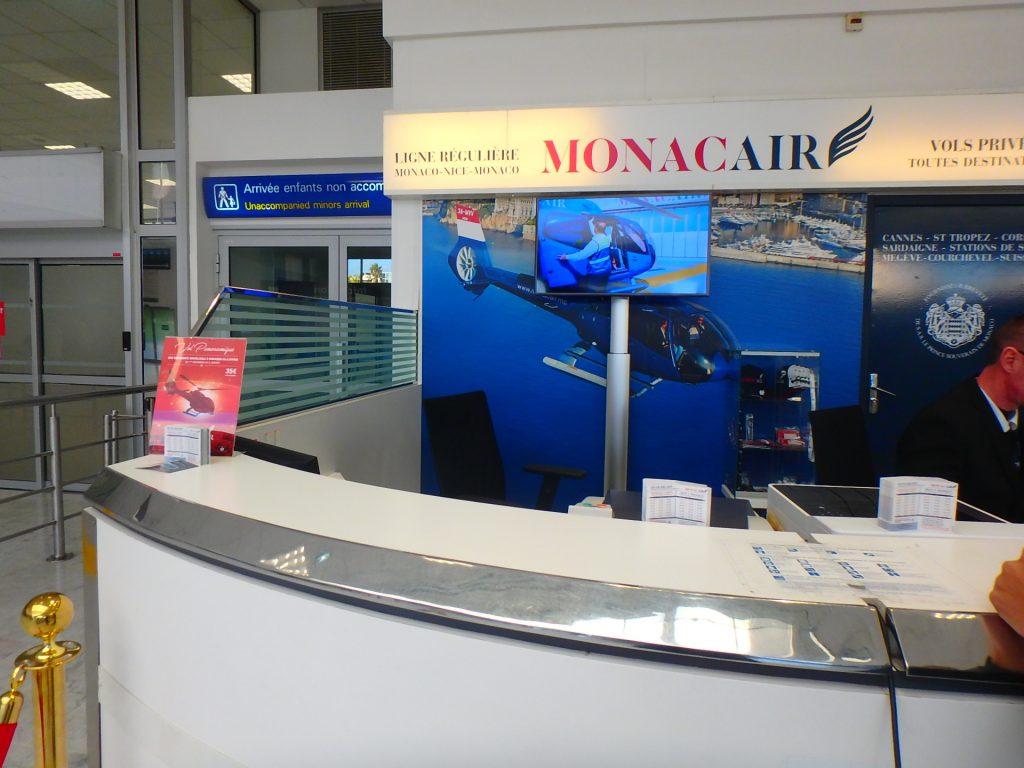 ヘリコプターでモナコへ Monaco Air