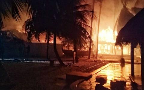 モルディブ ギリランカンフシで火災