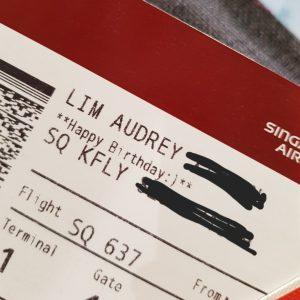 バースデーフライトの航空券