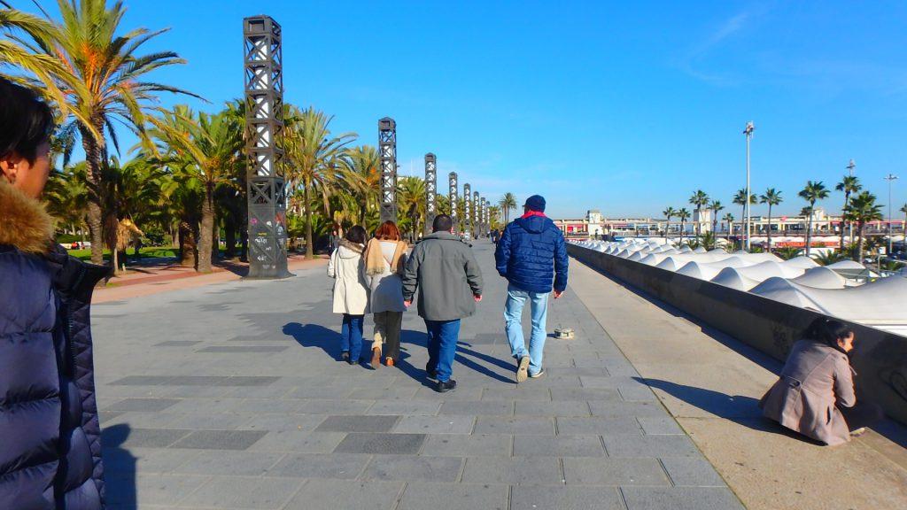 冬のバルセロネータ 暖かい
