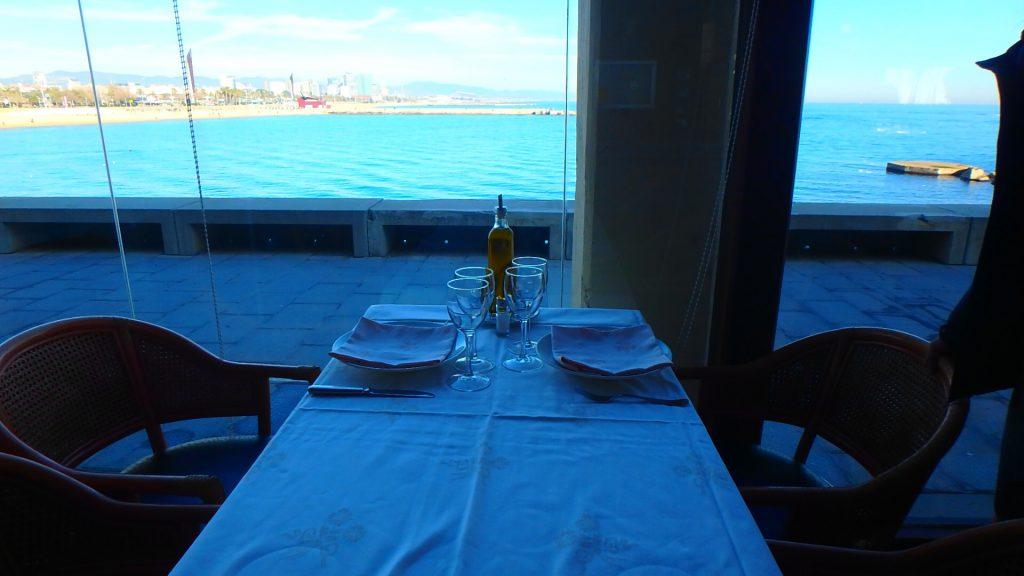 El Cangrejo Loco 海が見える席