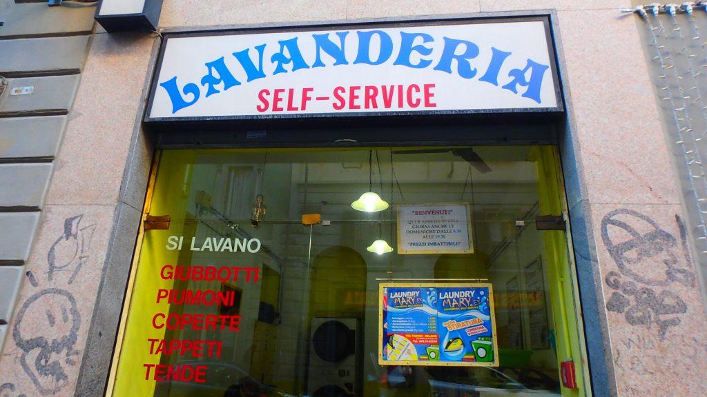 イタリア ミラノのコインランドリー 洗濯