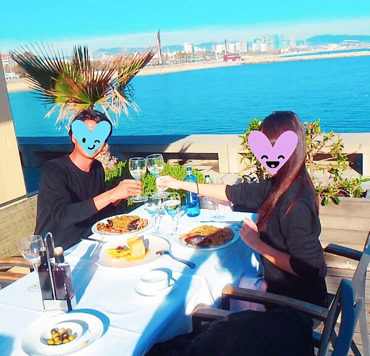 バルセロナ パエリアが美味しい おすすめレストラン 海沿い