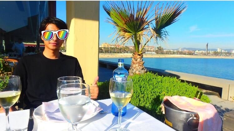 バルセロネータのおすすめレストラン 海沿い オーシャンビュー