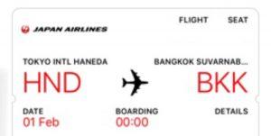 JALでモルディブへ