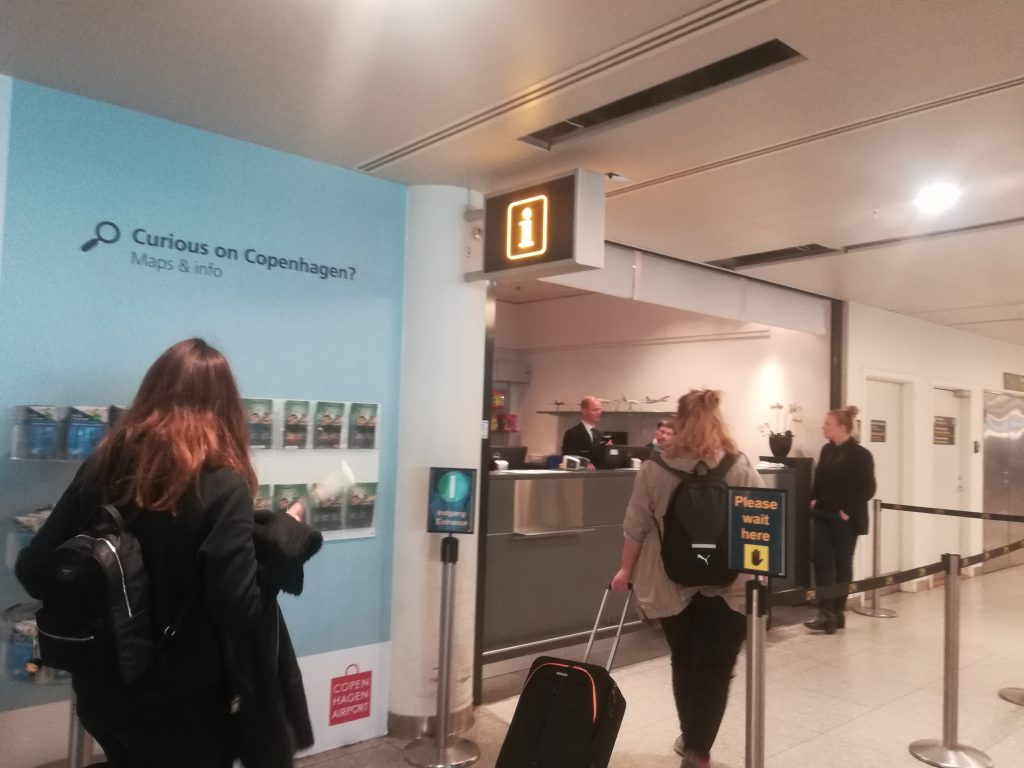 コペンハーゲンカード 空港での販売場所 ターミナル3