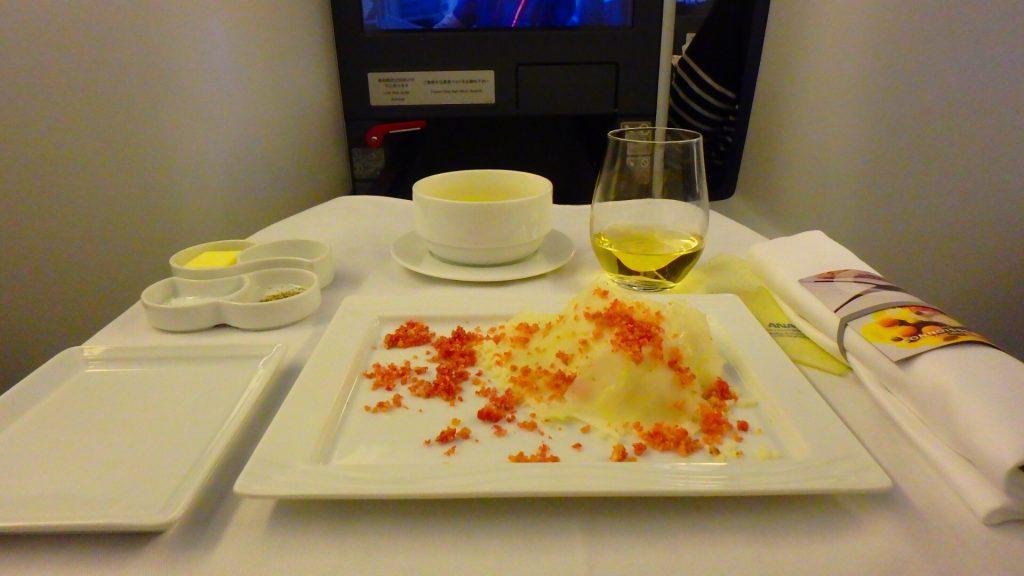 ANAビジネスクラスの機内食 洋食 フランス料理