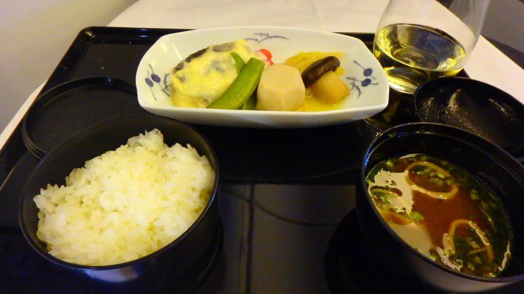 ANAビジネスクラス機内食 和食
