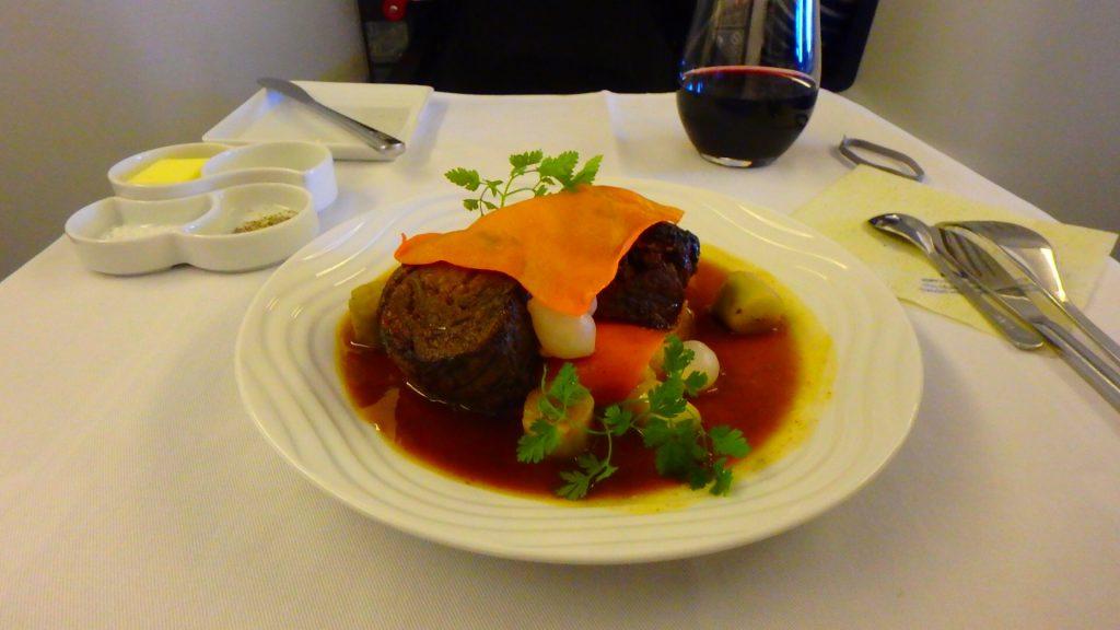 ANAビジネスクラスの機内食が美味しい